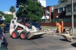 Reconstruyendo veredas en la calle Asilo
