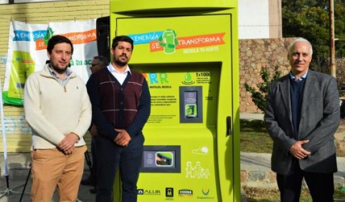 Máquina recicladora de aceite
