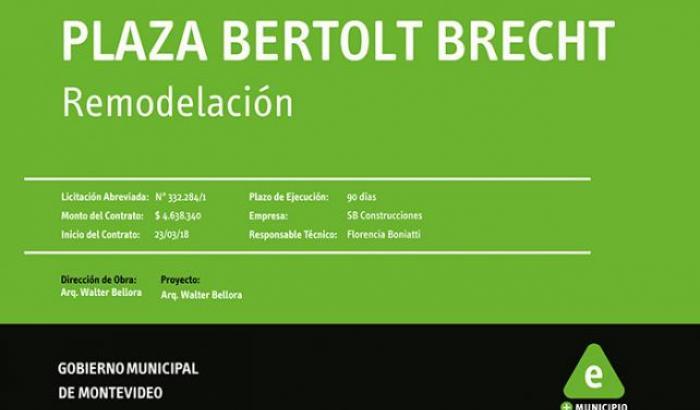 Plaza Bertolt Brecht - cartel de obra