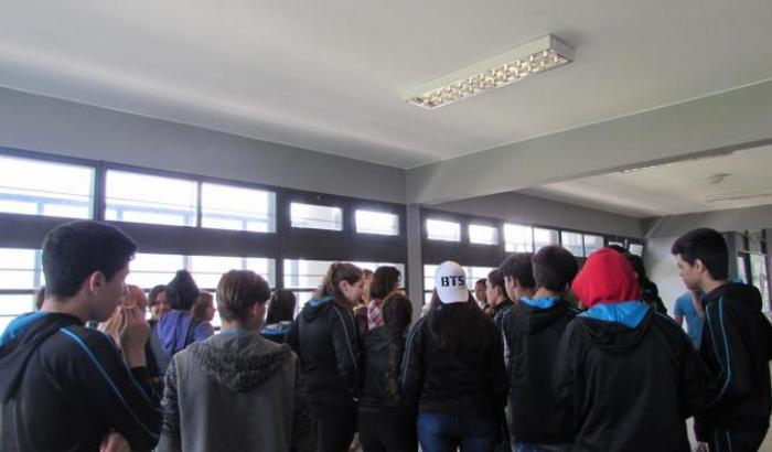 Taller en el Liceo 33.