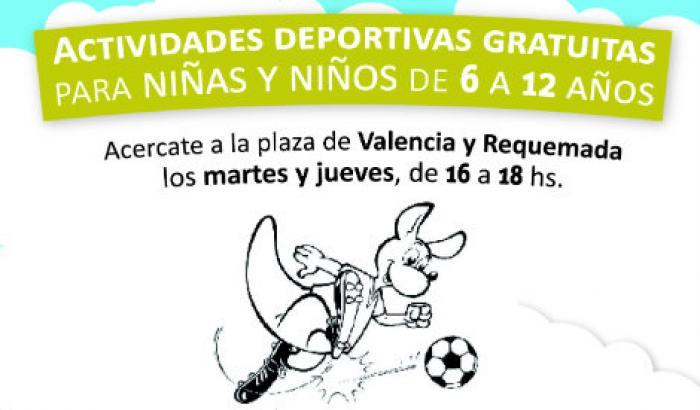 Actividades deportivas gratuitas para niñas/os