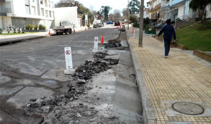 Obras en la calle Estrázulas - proceso