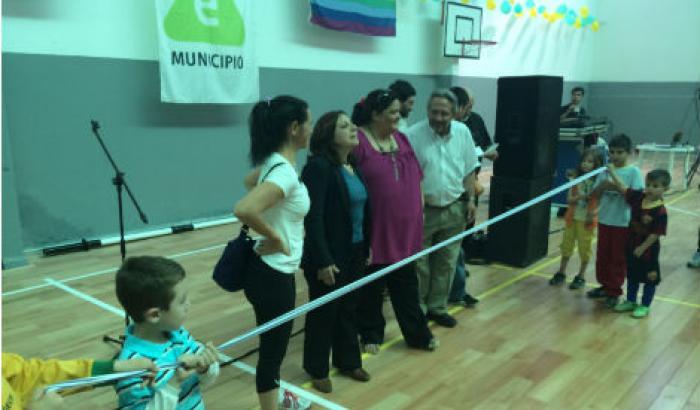 Inauguración de obras en el gimnasio de la Cooperativa José P. Varela Zona 3