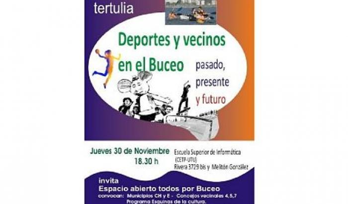 """Tertulia """"Vecinos y Deporte en Buceo, pasado presente y futuro"""""""