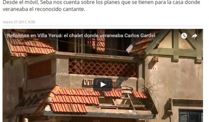 """Nota de Villa Yeruá en """"Desayunos Informales"""" - La Tele"""