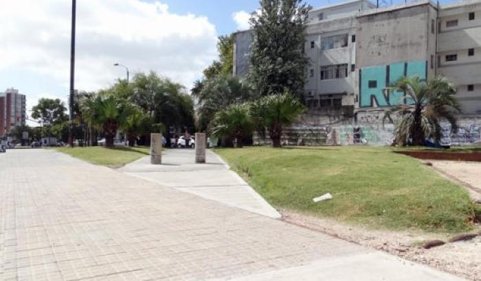 Obra de pavimentación en LA de Herrera y Av. 8 de Octubre